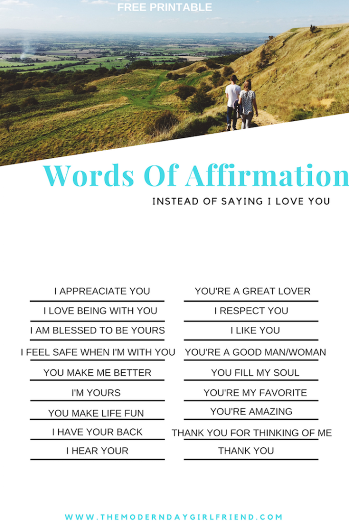 Free Printable Words Of Affirmation To Say Other Than I Love You